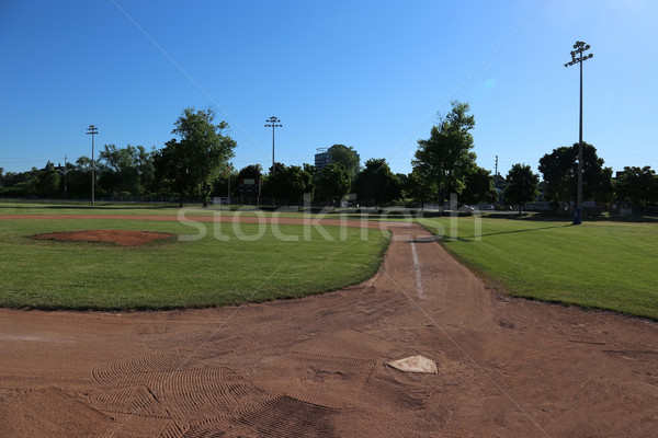 Ball Field and Shadows Stock photo © ca2hill