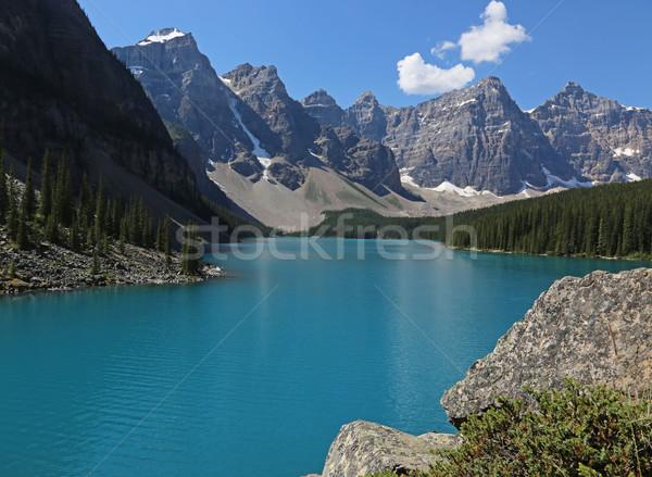湖 堆石 表示 壮大な 公園 水 ストックフォト © ca2hill