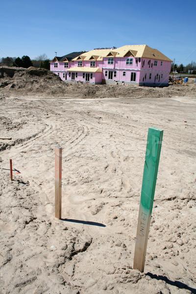 новый дом новых землю марка дома стены Сток-фото © ca2hill