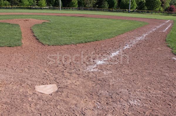 üres baseball gyémánt lövés szabad baseball pálya Stock fotó © ca2hill