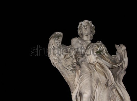 Angel Statue on Ponte Sant'Angelo Stock photo © ca2hill