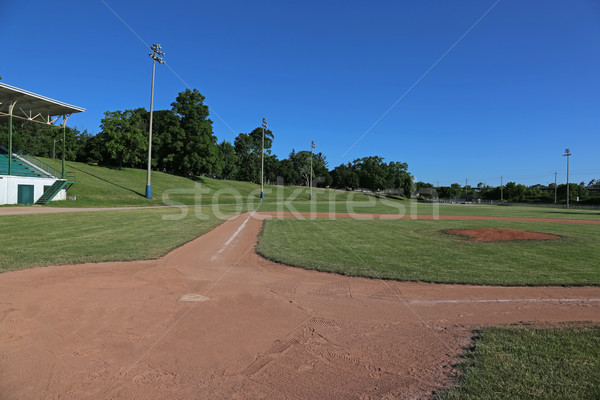 Ball Field and Grandstand