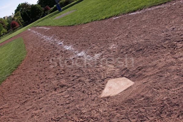Lefelé helyes mező vonal lövés oldal Stock fotó © ca2hill