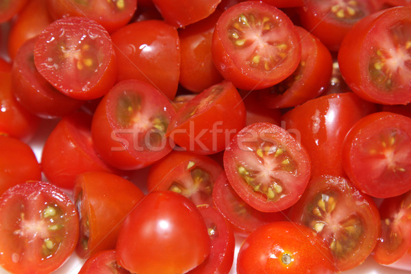Chopped Cherry Tomatoes Up-Close Stock photo © ca2hill