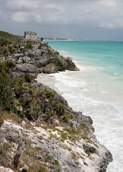 Stock photo: The Tulum Ruins