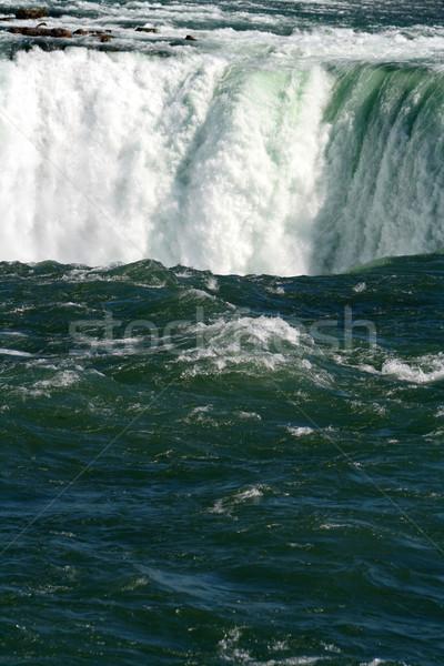Rand rand Niagara Falls natuur waterval Stockfoto © ca2hill
