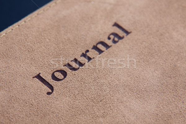 Journal orthographe cuir cas livre Photo stock © ca2hill