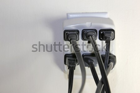 One Open Power Outlet Stock photo © ca2hill