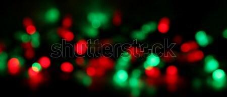 Christmas licht Blur Rood groene lichten Stockfoto © ca2hill