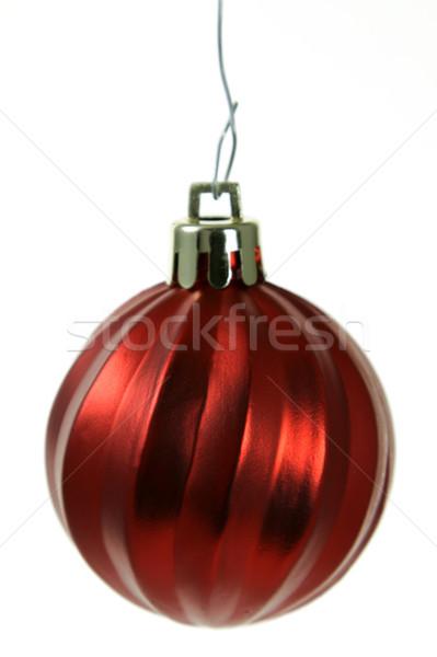Colgante rojo Navidad ornamento aislado chuchería Foto stock © ca2hill