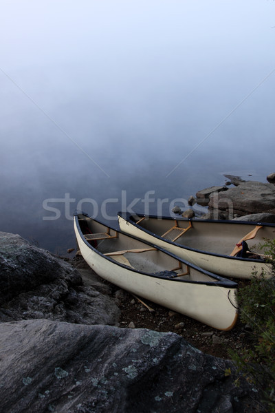 Parkside Canoes Stock photo © ca2hill