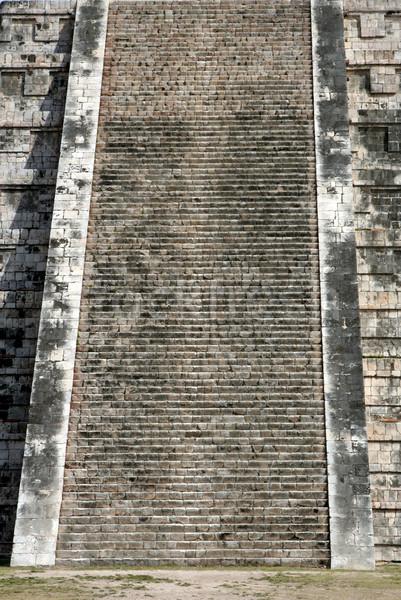 шаги могущественный храма Чичен-Ица руин Мексика Сток-фото © ca2hill