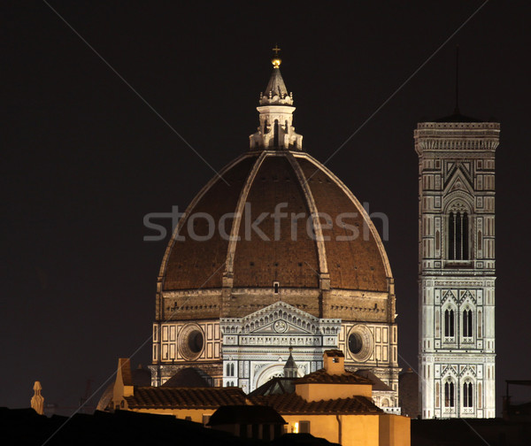 Duomo and Bell Tower at Night Stock photo © ca2hill