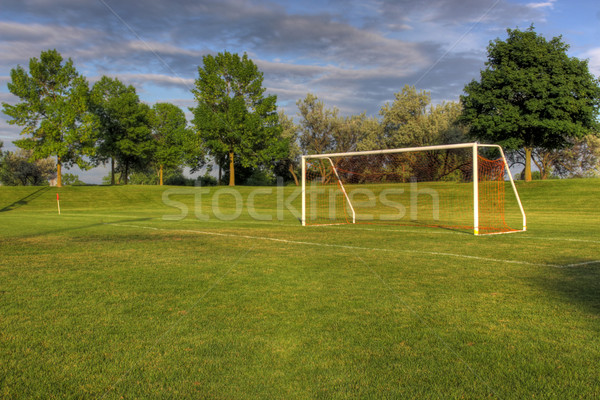 Unmanned Soccer Net Stock photo © ca2hill
