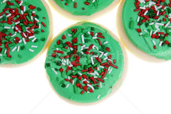 Christmas suiker cookies groep geïsoleerd witte Stockfoto © ca2hill