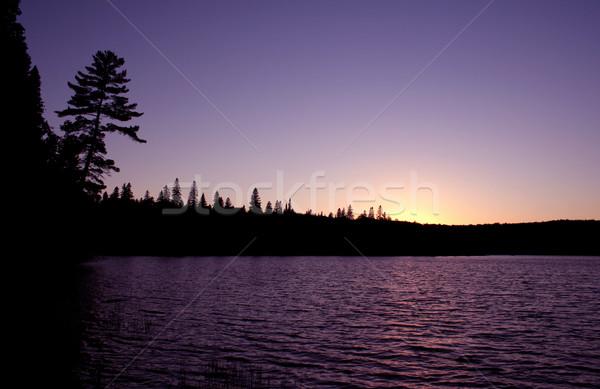Algonquin Sunset Silhouette Stock photo © ca2hill