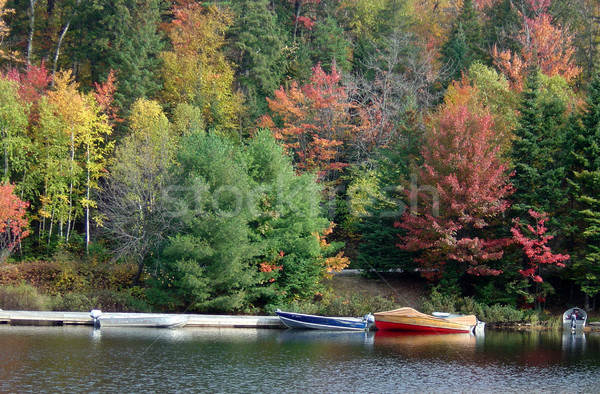 Stock photo: Autumn Boats