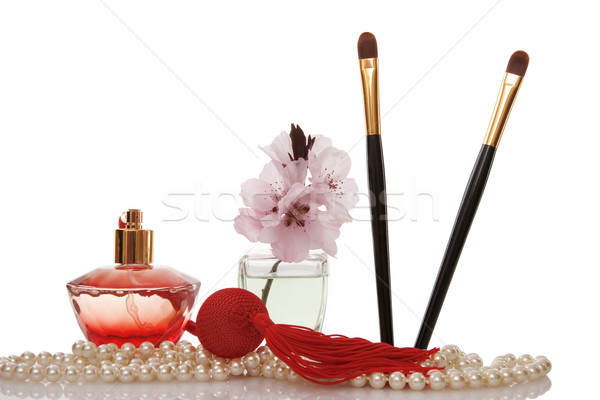жемчуга бисер духи два косметики щетка Сток-фото © caimacanul