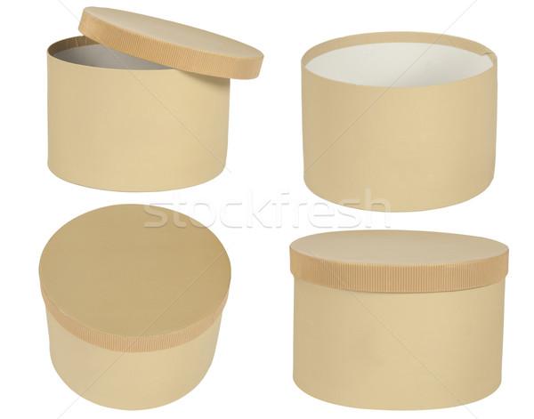 Cuadro cartón aislado blanco cuatro punto Foto stock © caimacanul