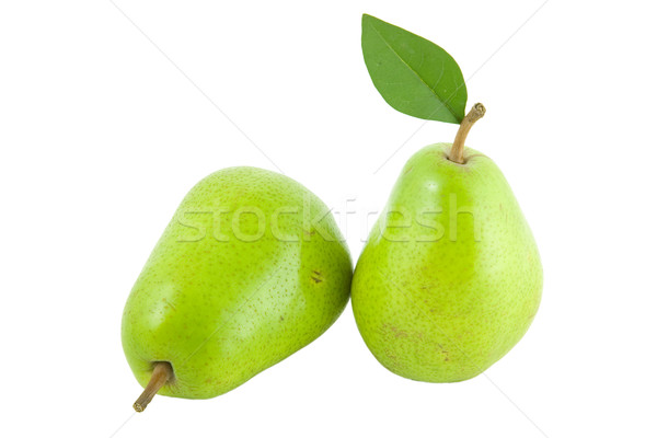fresh green pear with leaf Stock photo © caimacanul