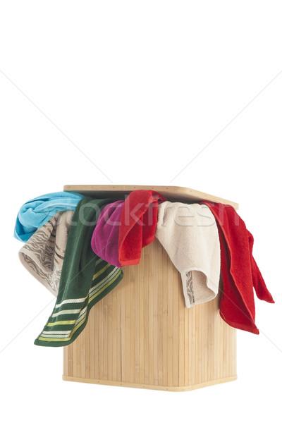 корзина для белья красочный корзины изолированный белый Сток-фото © caimacanul