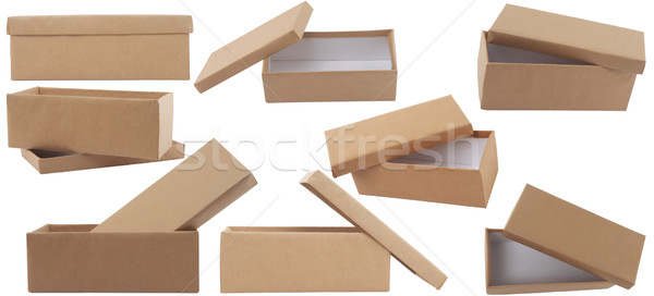 gift brown box with lid Stock photo © caimacanul