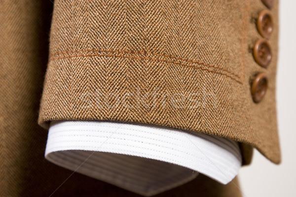 костюм подробность коричневый манжета белый Сток-фото © caimacanul
