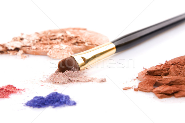 powder for makeup and brush Stock photo © caimacanul