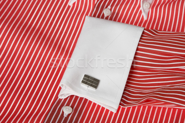 cuff link on men's red shirt  Stock photo © caimacanul