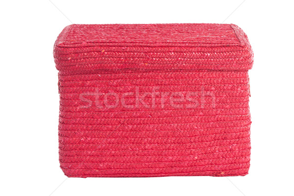 decorative red wicker basket on white Stock photo © caimacanul