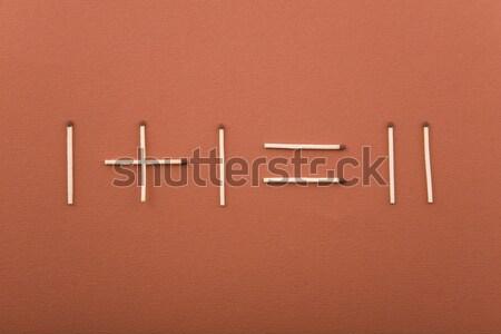 Matematyki proste ognia świat dymu czerwony Zdjęcia stock © caimacanul