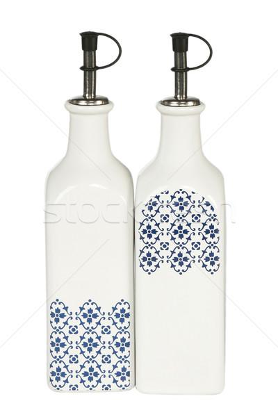 Petróleo vinagre botellas botella aislado blanco Foto stock © caimacanul