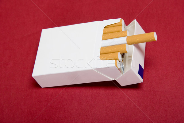 closeup of packet cigarettes Stock photo © caimacanul
