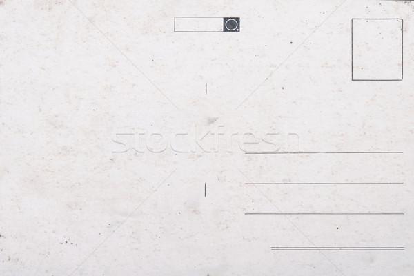 Foto stock: Velho · vazio · cartão · postal · grunge · papel · envelhecimento