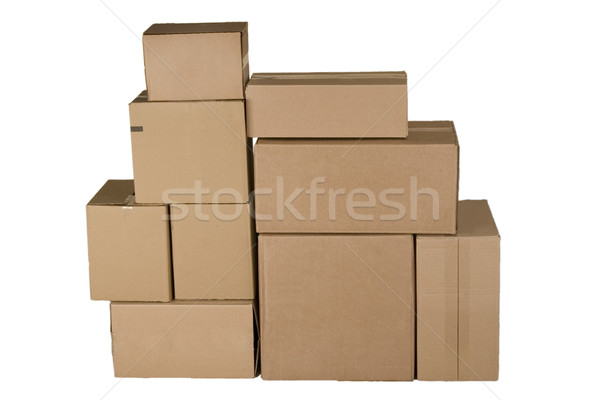 Stockfoto: Verschillend · karton · dozen · bruin · kantoor