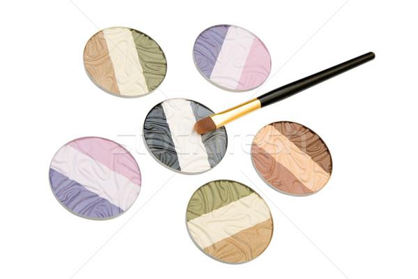 Cosmetica poeder oog schaduwen geïsoleerd Stockfoto © caimacanul
