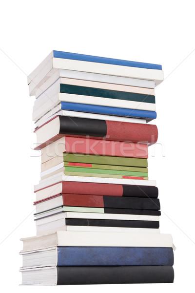 Torony könyvek szín fehér könyv iskola Stock fotó © caimacanul