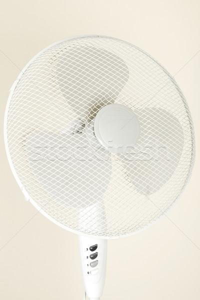 Fan ventilator hot geïsoleerd kantoor Stockfoto © caimacanul