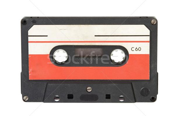 Vieux audio cassette vue blanche Photo stock © caimacanul