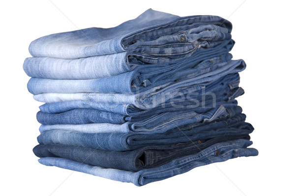blue jeans stack Stock photo © caimacanul