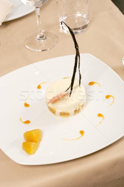 Művészi desszert fagylalt étterem asztal torta Stock fotó © caimacanul