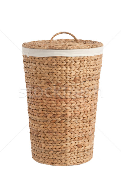 Cestino di lavanderia isolato bianco texture basket panno Foto d'archivio © caimacanul