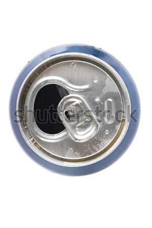 Superior vista abierto aluminio pueden blanco Foto stock © caimacanul