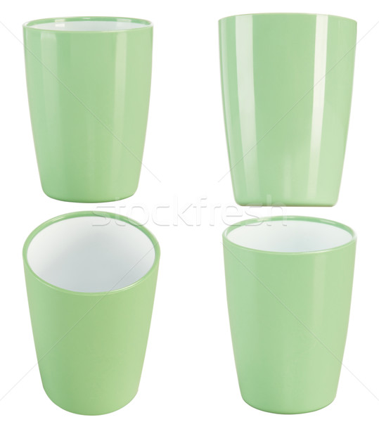 green plastic glass for juice Stock photo © caimacanul