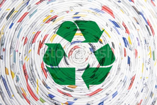 Stock fotó: Tekert · papír · spirál · újrahasznosítás · absztrakt · háttér