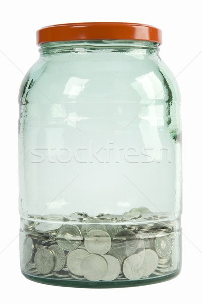 glass jar filled with coins Stock photo © caimacanul