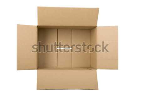 open corrugated cardboard box Stock photo © caimacanul