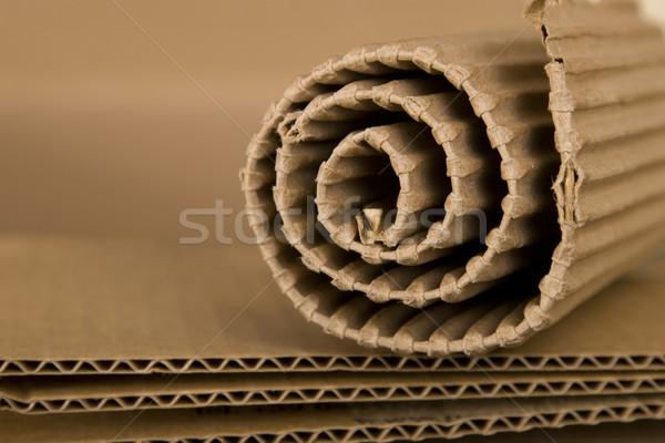Espiral cartón primer plano marrón papel fondo Foto stock © caimacanul