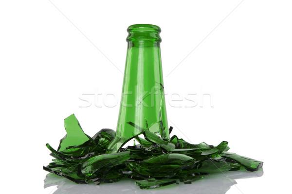 broken green bottle Stock photo © caimacanul