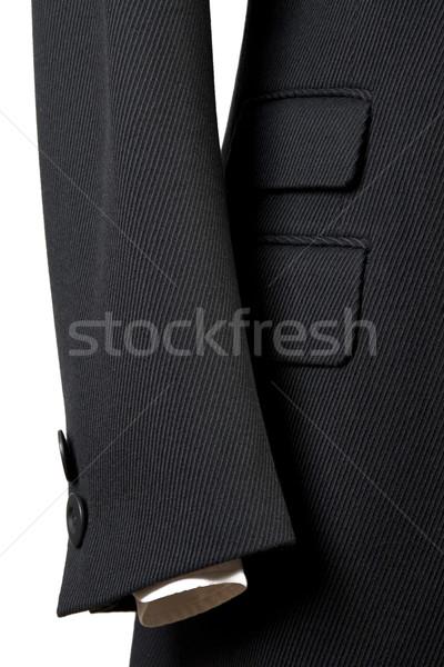 close-up of elegant overcoat Stock photo © caimacanul